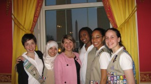 Girl Scouts at International Women's Day Program