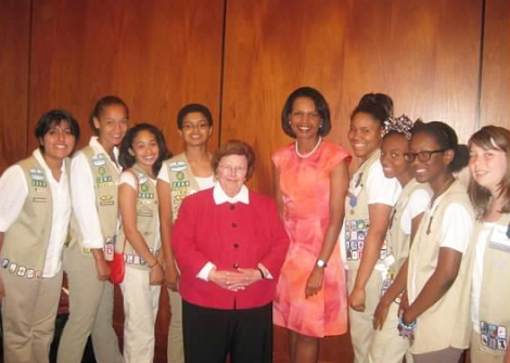 Girl Scouts with Condoleezza Rice and Sen. Mikulski