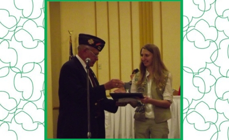 Mr. Stan Hunter, VFW Scouting Team Representative and Katie T. of Lake Ridge, Virginia