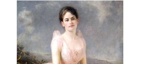 Juliette Gordon Low, in a portrait that hangs at the National Portrait Gallery in Washington, DC