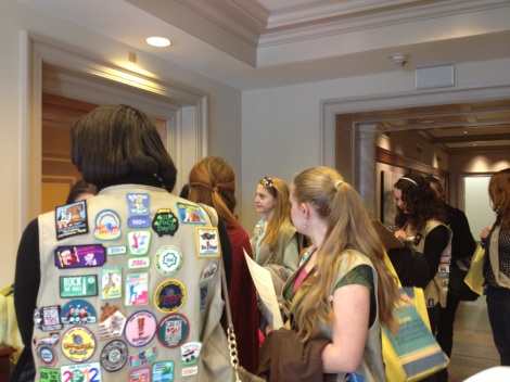 Girl Scouts on the Hill