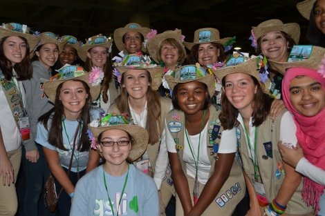 Girl Scouts Nation's Capital girl delegate with GSUSA and Council leaders