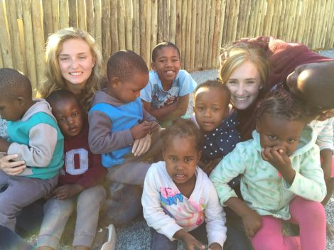 Taylor and Samanatha with Swazi Orphans