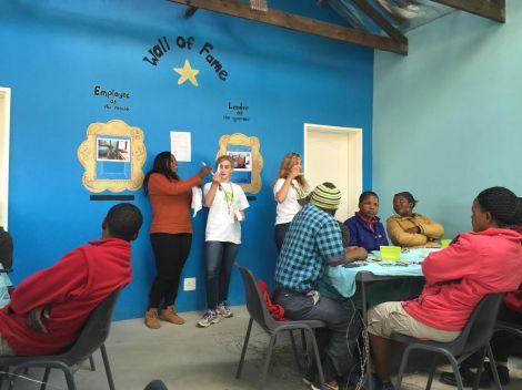 Teaching artisan about hygiene 1